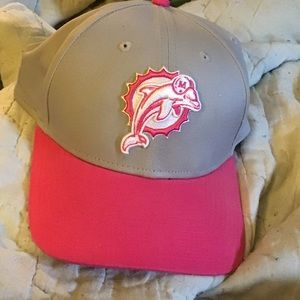Miami Dolphins breast cancer awareness cap